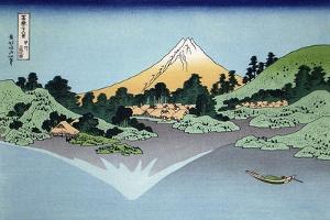 Reflection in the Surface of the Water, Misaka, Kai Province, 1830-1833 by Katsushika Hokusai