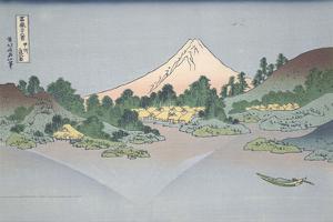 Reflection of Fuji in Lake Misaka in Kai Province, 1831 by Katsushika Hokusai