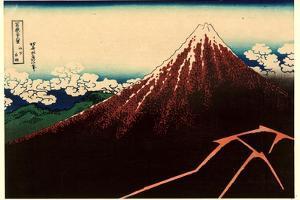 Sanka Hakuu by Katsushika Hokusai