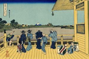 Sazai Hall - 500 Rakan Temples, c.1830 by Katsushika Hokusai