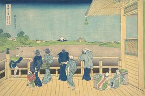 Sazai Hall at the Temple of the Five Hundred Arhats by Katsushika Hokusai