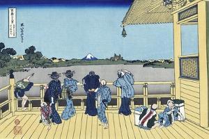 Sazai Hall of the Five Hundred Rakan Temple by Katsushika Hokusai