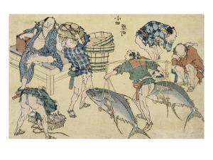 Scènes de rue nouvellement publiées by Katsushika Hokusai