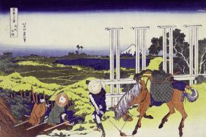 Senju in Musashi Province by Katsushika Hokusai