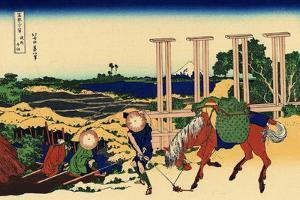 Senju in the Musachi Province, c.1830 by Katsushika Hokusai