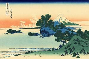 Shichiri Beach in Sagami Province, c.1830 by Katsushika Hokusai
