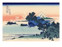 Cloud Hanging Bridge at Mount Gyodo, Ashikaga, from the Series 'Rare Views of Famous Japanese…-Katsushika Hokusai-Mounted Premium Giclee Print