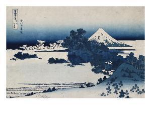 Shichirigahama in Suruga Province'- from the Series 'The Thirty Six Views of Mount Fuji' by Katsushika Hokusai