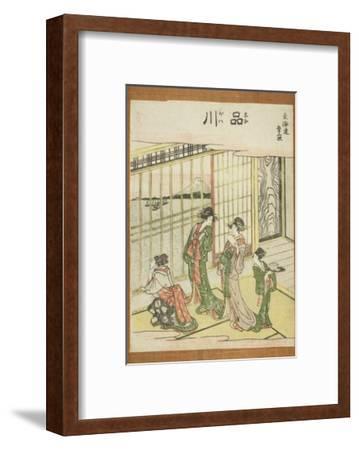 Shinagawa, from the Series Fifty-Three Stations of the Tokaido (Tokaido Gojusan Tsugi), C.1806