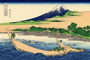 Shore of Tago Bay, Ejiri at Tokaido, c.1830 by Katsushika Hokusai