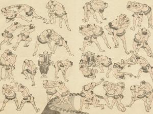 Sumo Wrestlers by Katsushika Hokusai