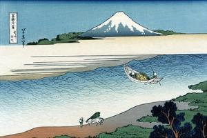Tama River in Musashi Province by Katsushika Hokusai