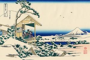 Tea House at Koishikawa, the Morning After a Snowfall, c.1830 by Katsushika Hokusai