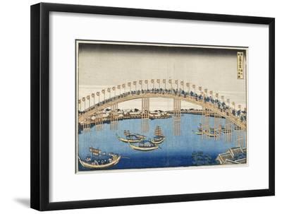 Temma Bridge, Settsu Province, Series Wondrous Views of Famous Bridges, Various Provinces, c.1835