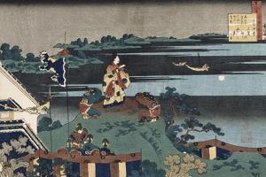 The Exiled Poet Nakamaro' by Katsushika Hokusai