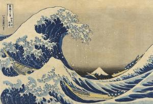 The Great Wave Off Kanagawa (Kanagawa Oki Nami Ura), C.1830-33 by Katsushika Hokusai