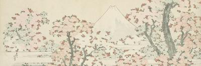 The Mount Fuji with Cherry Trees in Bloom by Katsushika Hokusai
