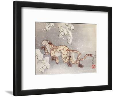 Tiger in a snowstorm. Edo Period, 1849
