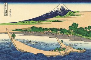 Tokaido Ejiri Tago-no-ura Ryakuzu by Katsushika Hokusai
