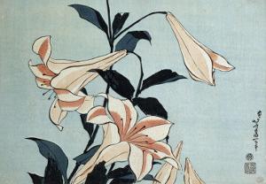 Trumpet Lilies by Katsushika Hokusai