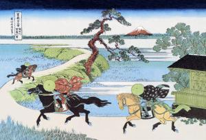 View of Mount Fuji from Horseback by Katsushika Hokusai