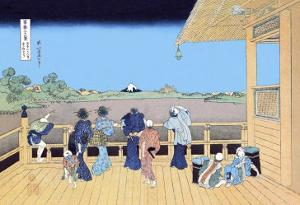 View of Mount Fuji from the Porch by Katsushika Hokusai