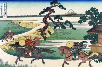 Village of Sekiya at Sumida River by Katsushika Hokusai