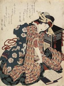 Woman Reading a Book, 1822 by Katsushika Hokusai