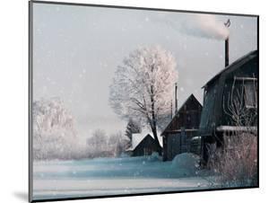 Christmas Landscape in Winter Village by katty1489