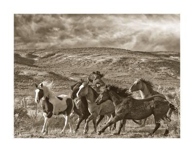Katy Rides Again-Barry Hart-Art Print