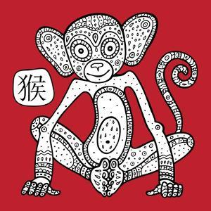 Chinese Zodiac. Animal Astrological Sign. Monkey. by Katyau