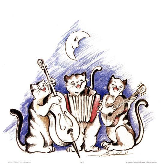 Katzenjammer-Alfred Gockel-Art Print