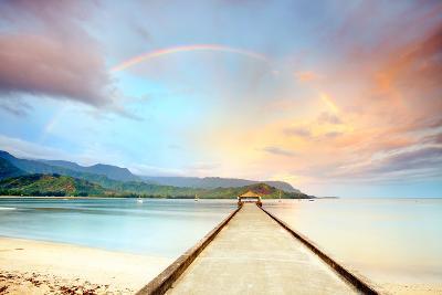 Kauai Hanalei Pier-M Swiet Productions-Photographic Print