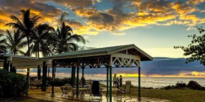 Kaupoa Beach House at the West End of Molokai Island at Sunset-Richard A. Cooke Iii.-Photographic Print