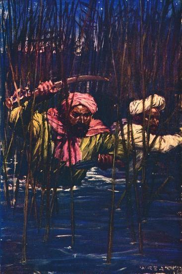 'Kavanagh and Kunuji in the Swamp', 1857 (c1912)-Unknown-Giclee Print