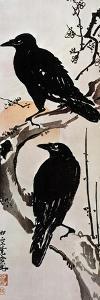 Japanese Print: Crow by Kawanabe Kyosai
