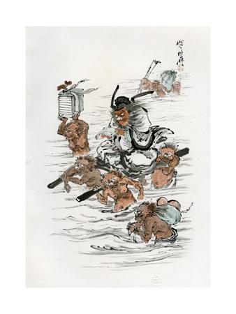 Shoki and Attendant Demons, 1898