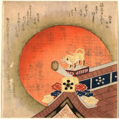 Kawarayane Ni Tora No Okimono--Giclee Print