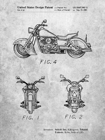 Kawasaki Motorcycle Patent-Cole Borders-Art Print