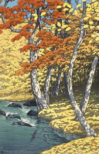 Autumn at Oirase (Oirase no aki), 1933 by Kawase Hasui