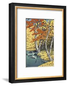 Autumn at Oirase (Oirase no aki), 1933 by Kawase Hasui