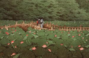 Benton Shrine by Kawase Hasui