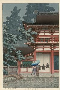 Kasuga Shrine, Nara by Kawase Hasui