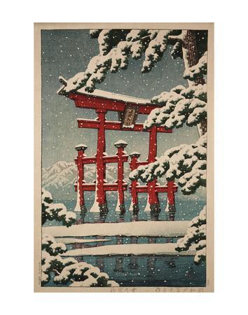 Miyajima in Snow (Yuki no Miyajima), 1929