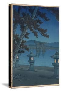 Moonlit Night in Miyajima by Kawase Hasui