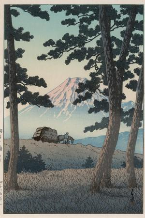 Mount Fuji Seen from Tagonoura in the Evening
