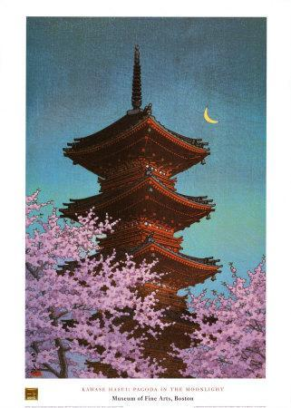 Pagoda in Moonlight