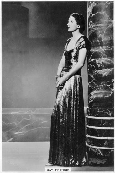 Kay Francis, American Stage and Film Actress, 1938--Giclee Print