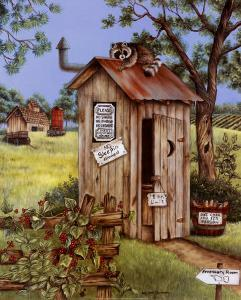 Outhouse, Raccoon by Kay Lamb Shannon