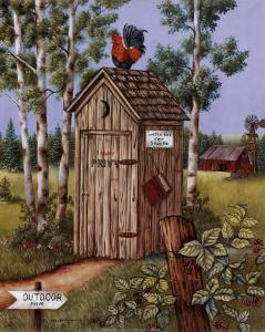 Outhouse, Rooster by Kay Lamb Shannon